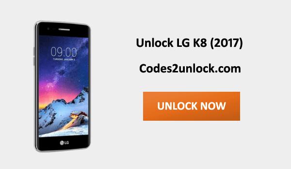 Unlock LG K8 (2017), LG K8 (2017) Unlock Code,