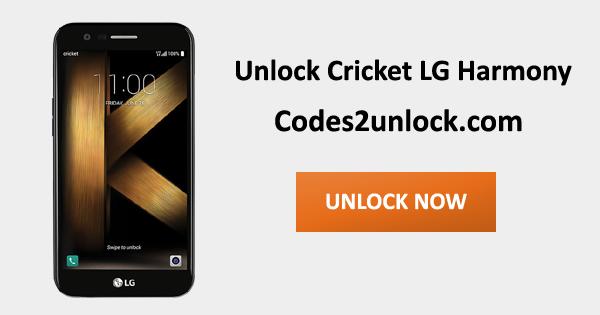 Unlock Cricket LG Harmony, Cricket LG Harmony Unlock Code,