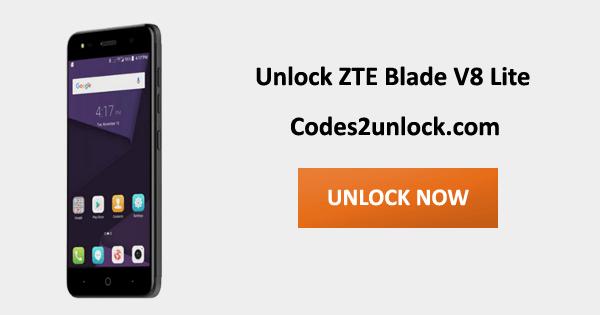 Unlock ZTE Blade V8 Lite, ZTE Blade V8 Lite Unlock Code,