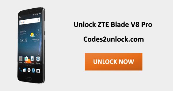 Unlock ZTE Blade V8 Pro, ZTE Blade V8 Pro Unlock Code,