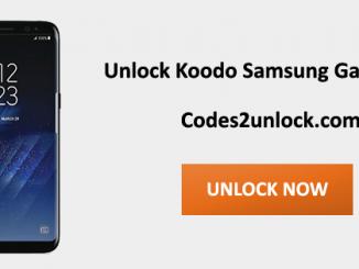 Unlock Koodo Samsung Galaxy S8