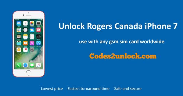 Unlock Rogers Canada iPhone 7, Unlock iPhone 7 Rogers Canada,