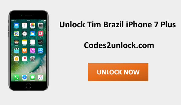Unlock Tim Brazil iPhone 7 Plus, Unlock iPhone 7 Plus Tim Brazil