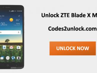 Unlock ZTE Blade X Max