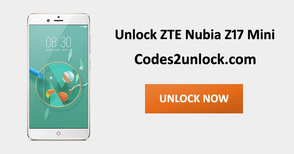 Unlock ZTE Nubia Z17 Mini, ZTE Nubia Z17 Mini Unlock Code,