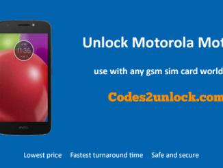 Unlock Motorola Moto E4, Motorola Moto E4 unlock code