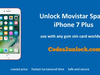 Unlock Movistar Spain iPhone 7 Plus, Unlock iPhone 7 Plus Movistar Spain,
