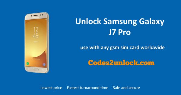how to unlock a samsung j7 pro