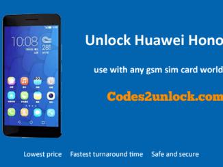 Unlock Huawei Honor 6A, Huawei Honor 6A Unlock Code