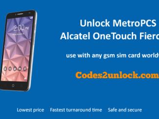 Unlock MetroPCS Alcatel OneTouch Fierce XL, MetroPCS Alcatel OneTouch Fierce XL Unlock