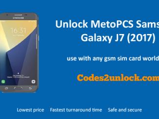 Unlock MetroPCS Samsung Galaxy J7 (2017), MetroPCS Samsung Galaxy J7 (2017) Unlock,