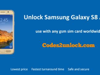 Unlock Samsung Galaxy S8 Active, Samsung Galaxy S8 Active Unlock Code