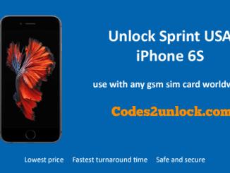 Unlock Sprint USA iPhone 6S, Unlock iPhone 6S Sprint USA