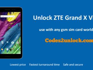 Unlock ZTE Grand X View 2, ZTE Grand X View 2 Unlock Code,