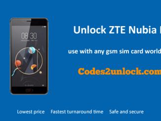 Unlock ZTE Nubia N2, ZTE Nubia N2 Unlock Code