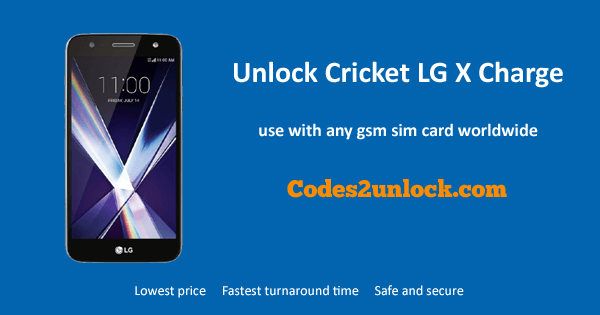 Unlock Cricket LG X Charge, Cricket LG X Charge Unlock Code