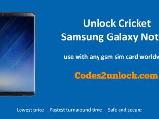 Unlock Cricket Samsung Galaxy Note 8, Cricket Samsung Galaxy Note 8 Unlock Code