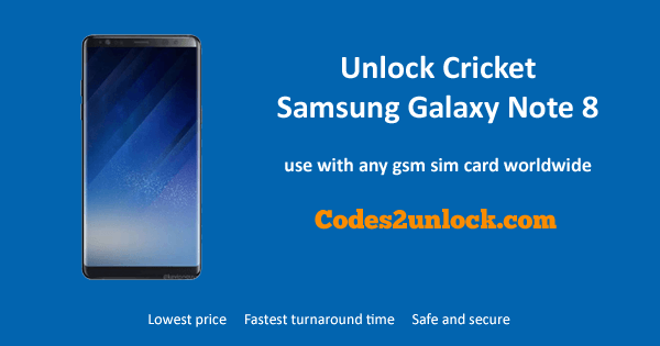 Unlock Cricket Samsung Galaxy Note 8, Cricket Samsung Galaxy Note 8 Unlock Code