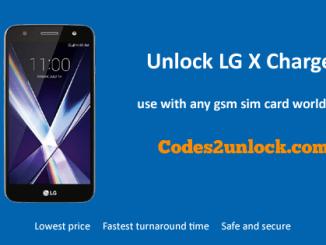 Unlock LG X Charge, LG X Charge Unlock Code