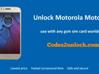 Unlock Motorola Moto G5S, Motorola Moto G5S Unlock Code