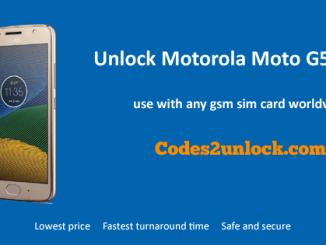 Unlock Motorola Moto G5S Plus, Motorola Moto G5S Plus Unlock Code