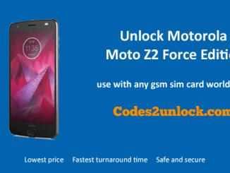 Unlock Motorola Moto Z2 Force Edition, Motorola Moto Z2 Force Edition Unlock Code