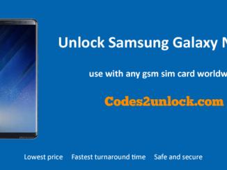 Unlock Samsung Galaxy Note 8, Samsung Galaxy Note 8 Unlock Code