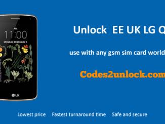Unlock EE UK LG Q6, EE UK LG Q6 Unlock Code