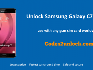 Unlock Samsung Galaxy C7 (2017), Samsung Galaxy C7 (2017) Unlock Code