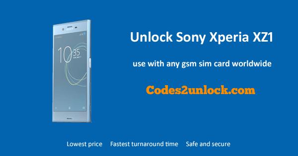 Unlock Sony Xperia XZ1, Sony Xperia XZ1 Unlock Code