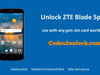 Unlock ZTE Blade Spark, ZTE Blade Spark Unlock Code