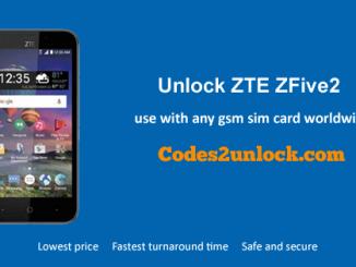 Unlock ZTE ZFive2, ZTE ZFive2 Unlock Code,