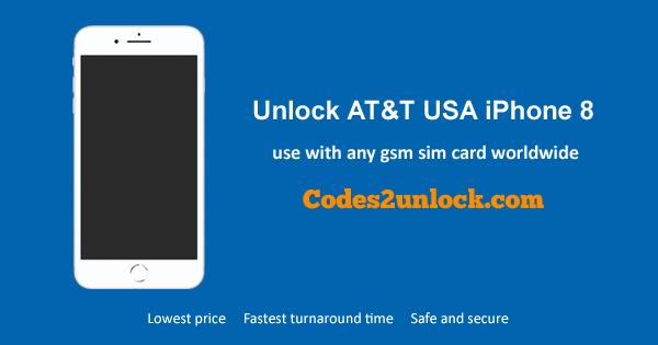Unlock AT&T USA iPhone 8, Unlock iPhone 8 AT&T USA,