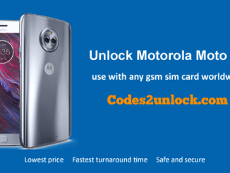 Unlock Motorola Moto X4, Motorola Moto X4 Unlock Code,