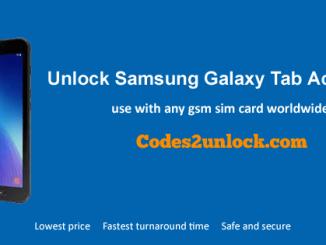 Unlock Samsung Galaxy Tab Active 2, Samsung Galaxy Tab Active 2 Unlock Code,