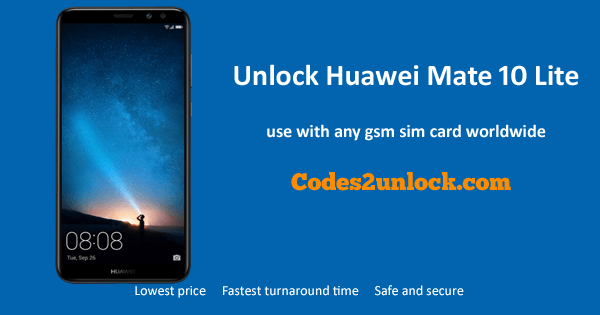 Unlock huawei Mate 10 Lite,