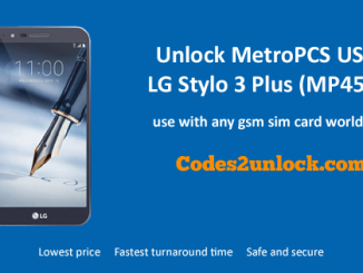Unlock MetroPCS USA LG Stylo 3 Plus (MP450), MetroPCS USA LG Stylo 3 Plus (MP450) Unlock,