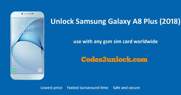 Unock Samsung Galaxy A8 Plus (2018),Samsung Galaxy A8 Plus (2018) Unlock Code,