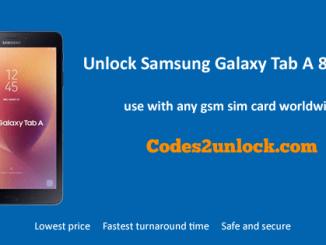 Unlock Samsung Galaxy Tab A 8.0 (2017), Samsung Galaxy Tab A 8.0 (2017) Unlock Code,