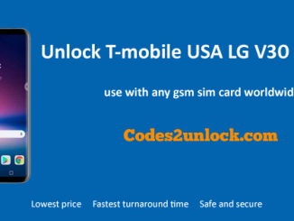 Unlock T-mobile USA LG V30 (H932),T-mobile USA LG V30 (H932) Unlock Code,