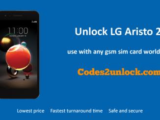 Unlock LG Aristo 2, LG Aristo 2 Unlock Code,