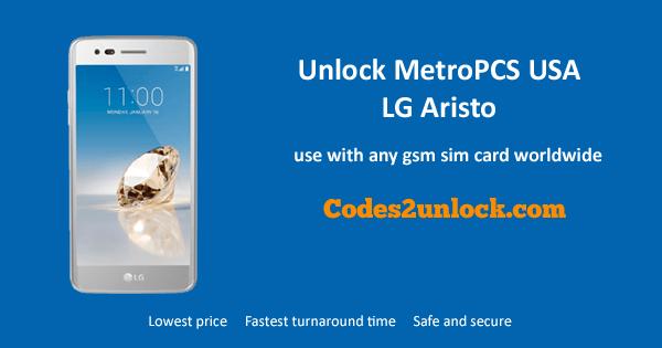 Unlock MetroPCS USA LG Aristo, MetroPCS USA LG Aristo,