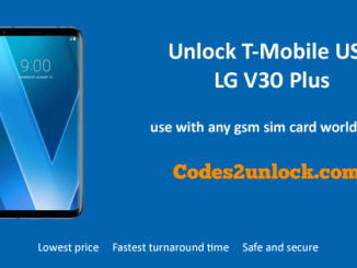 Unlock T-Mobile USA LG V30 Plus,T-Mobile USA LG V30 Plus Unlock,