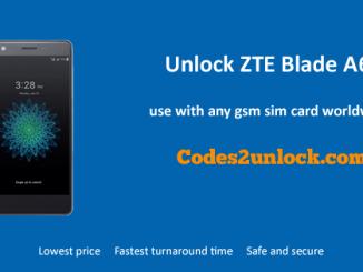 Unlock ZTE Blade A6, ZTE Blade A6 Unlock Code,