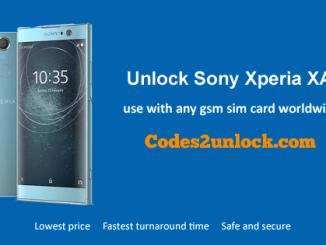 Unlock Sony Xperia XA2,