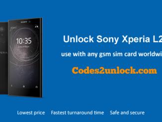 Unlock Sony Xperia L2,