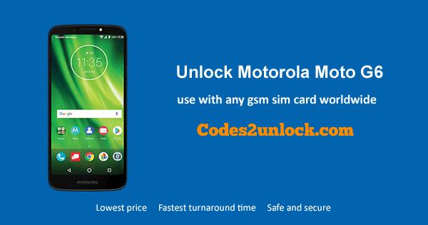 Unlock Motorola Moto G6, Motorola Moto G6 Unlock Code,