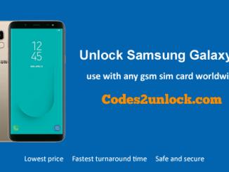 Unlock Samsung Galaxy J6, Samsung GalaxyJ6 Unlock Code,
