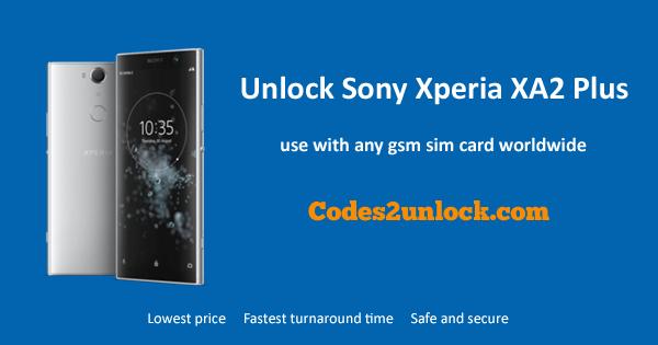 Unlock Sony Xperia XA2 Plus, Sony Xperia XA2 Unlock Code,
