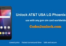 Unlock AT&T USA LG Phoenix Plus